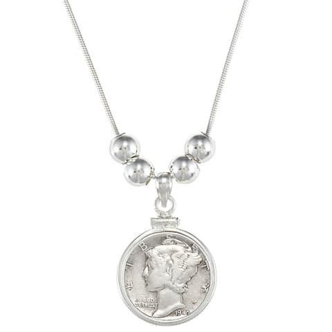 American Coin Treasures Silver Mercury Dime Pendant