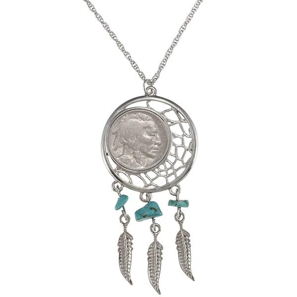 American Coin Treasures Buffalo Nickel Dream Catcher Pendant