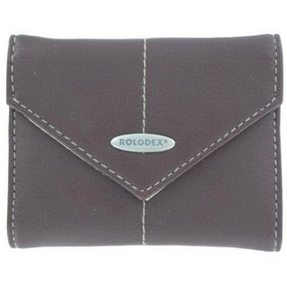 Rolodex Brown Polyurethane Foam Personal Business Card Case (36 Cards)