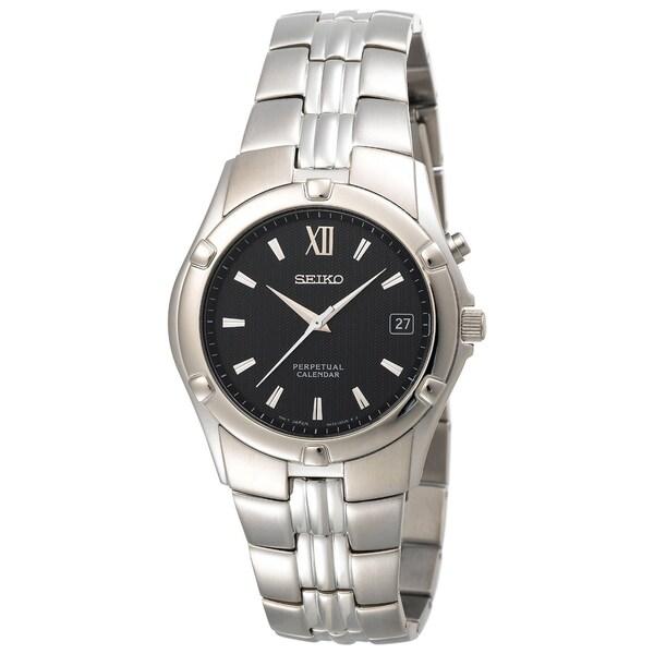Seiko Men's Stainless Steel Perpetual Calendar Watch