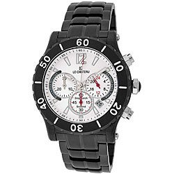 Le Chateau Dinamica Black Ion-plated White Dial Chrono Watch