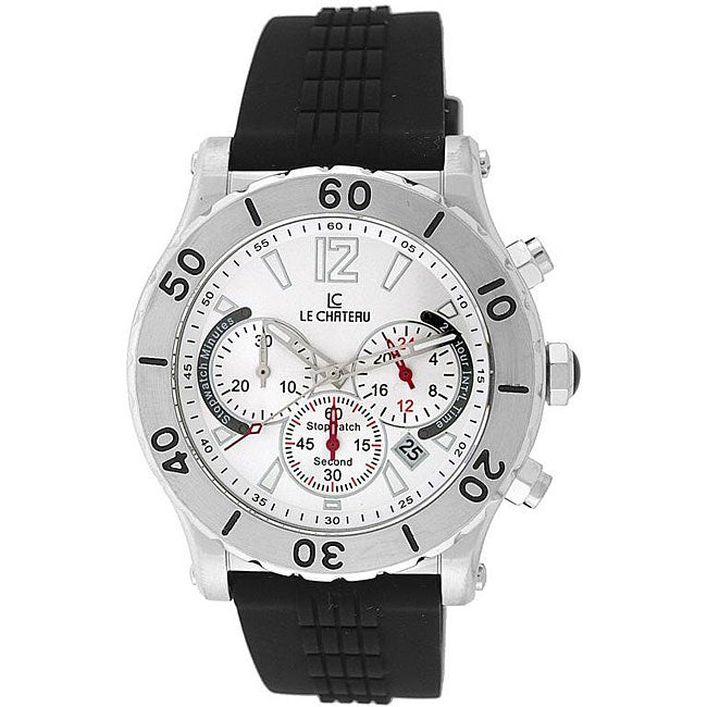 Le Chateau Dinamica Men's All Steel Rubber Strap Sport Watch