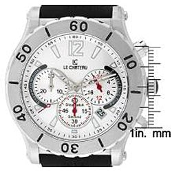 Le Chateau Dinamica Men's All Steel Rubber Strap Sport Watch - Thumbnail 1