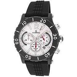 Le Chateau Dinamica Men's Black Ion-plated Rubber Strap Sport Watch