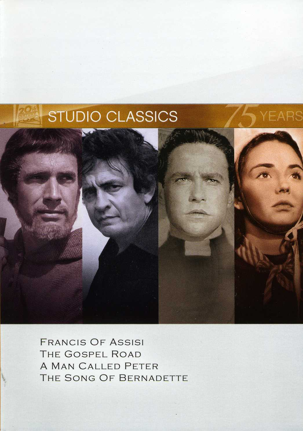 Francis Of Assisi/The Gospel Road/A Man Called Peter/The Song Of Bernadette (DVD)