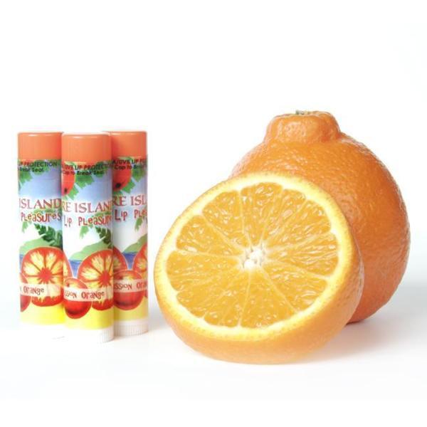 Pure Island 'Passion Orange' Lip Balm (Pack of 3)
