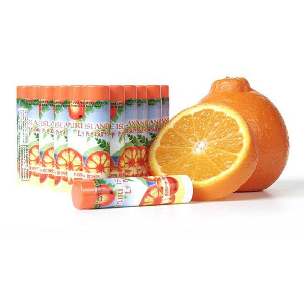 Pure Island Passion Orange Lip Balms (Pack of 12)
