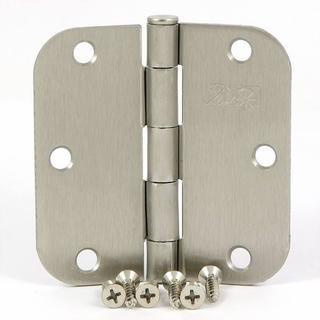 Stone Mill 3.5-inch Satin Nickel Door Hinges (Box of 2)