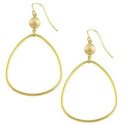 Fremada 14k Yellow Gold Bead Teardrop Earrings