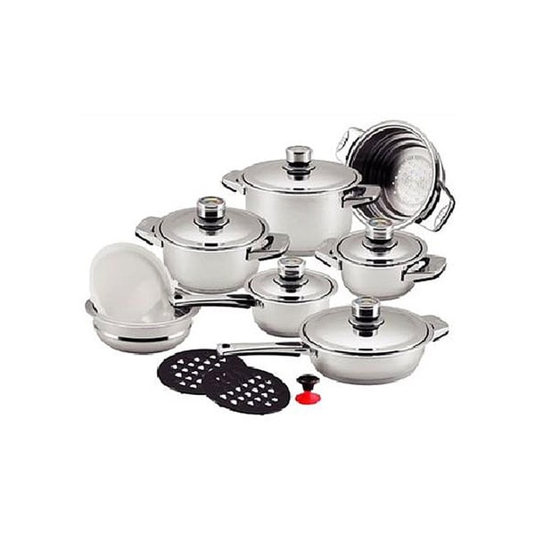 millerhaus 16 piece 7 layer 18 10 stainless steel cookware