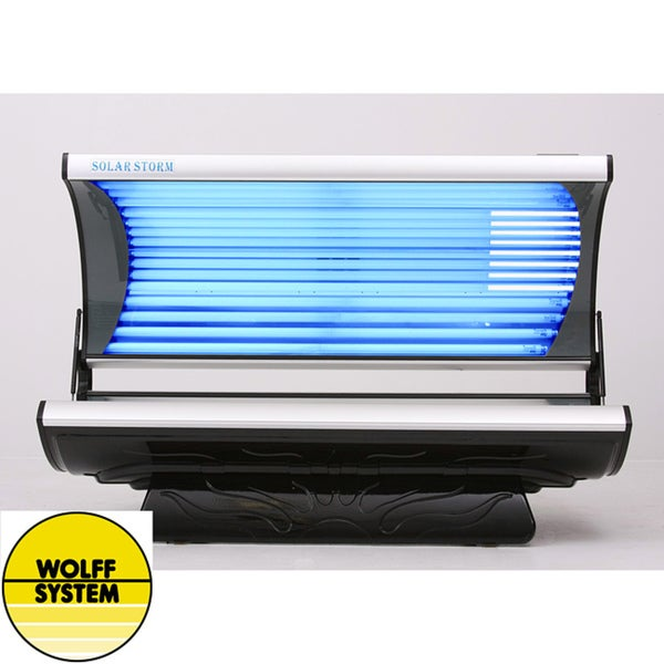 Wolff Systems Solar Storm 24S 24-lamp Tanning Bed with Face Lamps