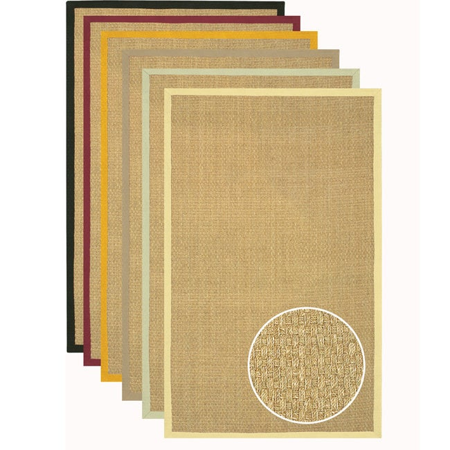 Hand Woven Glam Seagrass Rug 2 6 X 8 Free Shipping
