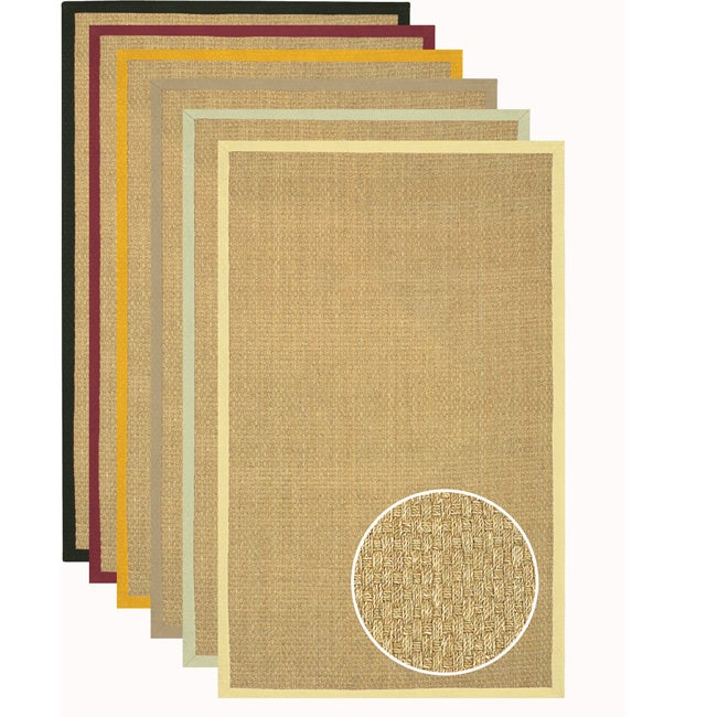 Hand-woven Glam Seagrass Rug (5' x 8')