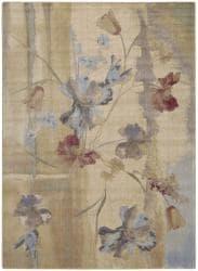 Nourison Rhythm Beige Floral Rug (7'8 x 10'10)