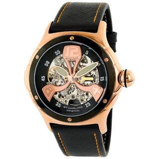 Stuhrling Original Men's 'Alpine' Skeleton Automatic Watch