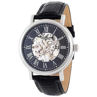 Stuhrling Original Men's 'Montague' Skeleton Mechanical Hand Wind Watch