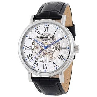 Stuhrling Original Men's 'Montague' Skeleton Mechanical Watch