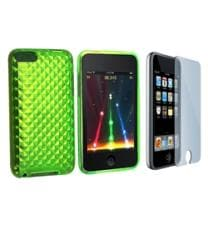 INSTEN Green TPU iPod Case Cover and Screen Guard for iPod Touch Gen 2/ 3 - Thumbnail 2