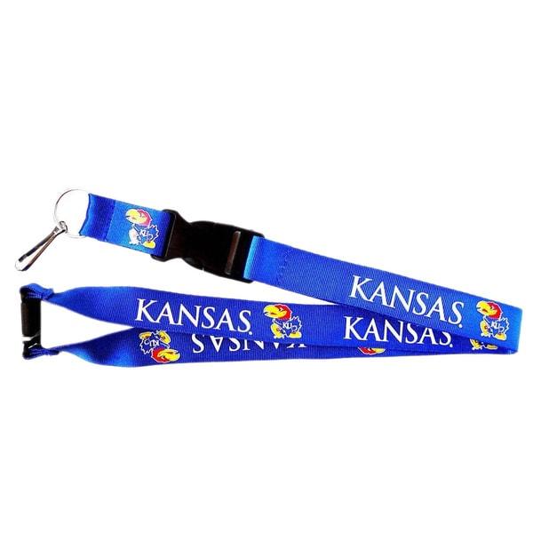 Kansas Jayhawks Blue ID Ticket Clip/ Keychain Lanyard