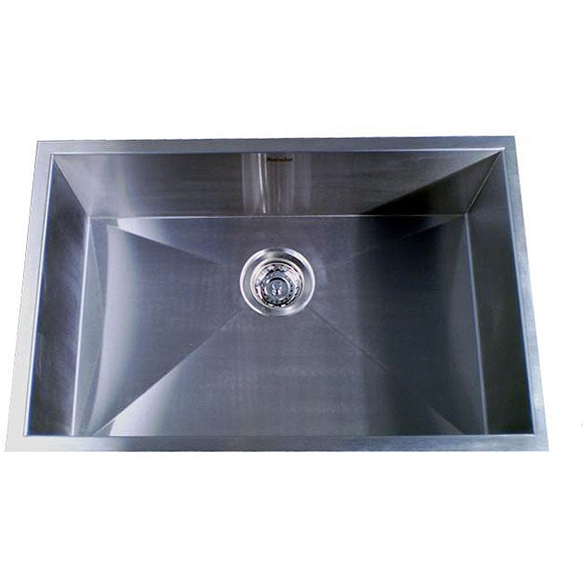Zero Radius Single Bowl 28 Inch Kitchen Sink Free