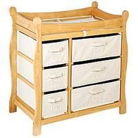 Badger Basket Natural 6-basket Changing Table