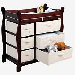 Badger Basket Cherry 6-basket Baby Changing Table