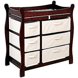 Badger Basket Cherry 6 Basket Baby Changing Table