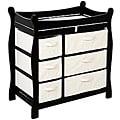 Badger Basket Black 6-basket Baby Changing Table