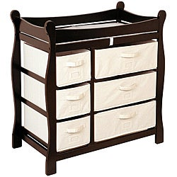 Badger Basket Espresso 6 Basket Baby Changing Table