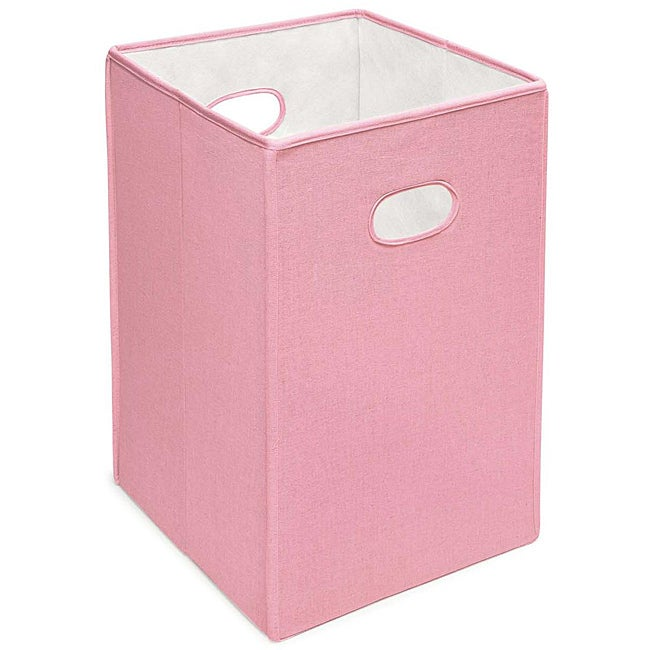 Badger Basket Pink Folding Storage Hamper