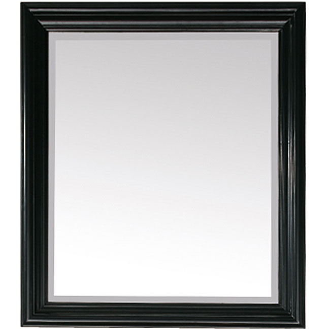 Shop Avanity Milano 30 Inch Mirror In Black Finish Free