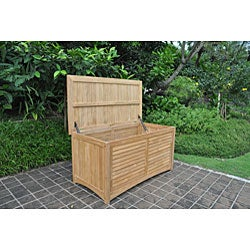 Teak Outdoor Storage Box Free Shipping Today Overstock