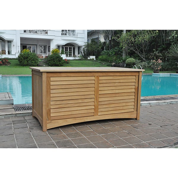 Marvelous Teak Outdoor Storage Box