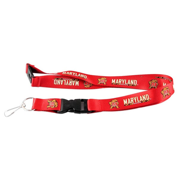 Maryland 'Terps' Terrapins ID Ticket Clip/ Keychain Lanyard