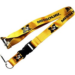 Missouri Mizzou Tigers Gold Lanyard Keychain ID Holder