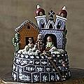 Handmade Ceramic 'Bell Tower Christmas' Nativity Scene (Peru)