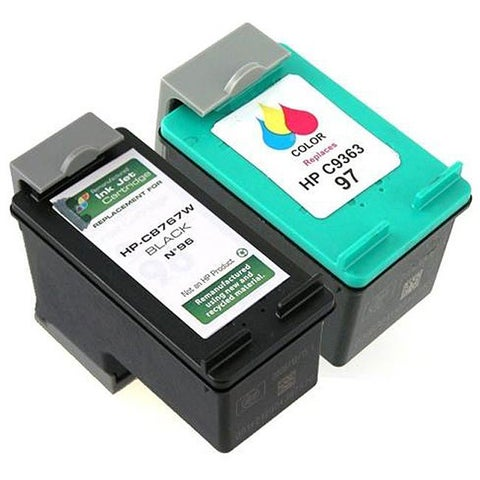 Insten Black Remanufactured Ink Cartridge Replacement for HP C8767W/ 96
