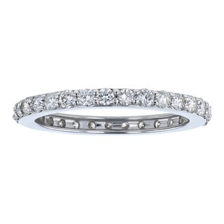 14k White Gold 1ct TDW Diamond Wedding Eternity Band