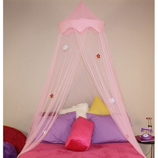 Pink Netted Dream Bed Canopy