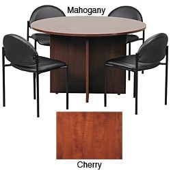Boss 47-inch Conference Table and Stackable Chair Set