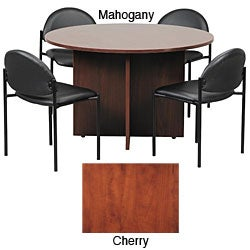 Boss 42-inch Conference Table and Stackable Chair Set