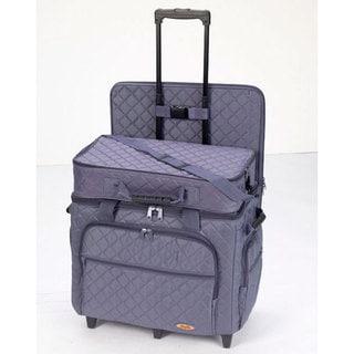 Hemline Extra Large Slate Blue 3-bag Trolley/ Quilting Set