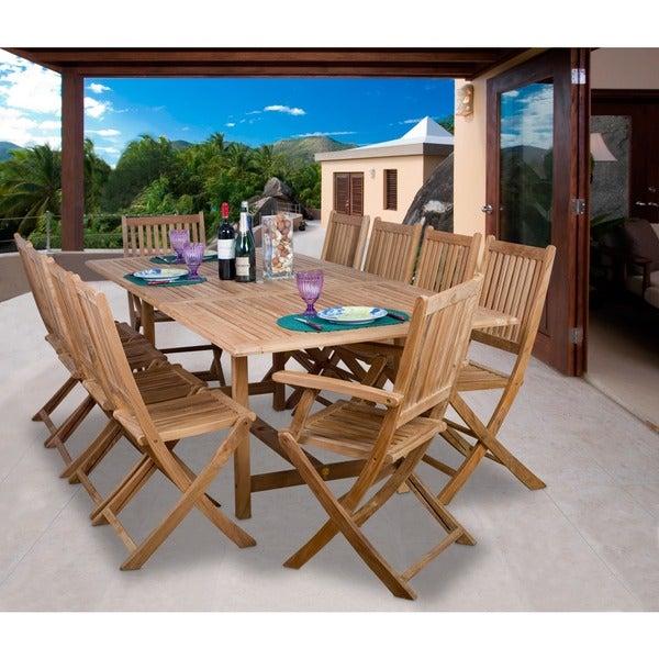 Havenside Home Tottenville 11-piece Teak Dining Set
