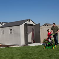 Lifetime Grey Plastic and Steel 8-foot x 12.5-foot Outdoor Storage Shed