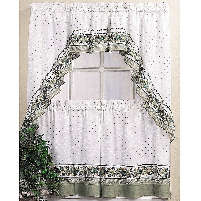 Cottage Ivy 36 inch Tier Curtain/ Swag Set