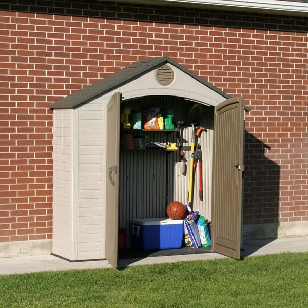 Lifetime Indoor/ Outdoor Storage Closet (8u0026#x27; ... & Shop Lifetime Indoor/ Outdoor Storage Closet (8u0027 x 2.5u0027) - Free ...