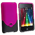 INSTEN Hot Pink/ Black Phone Case Cover for Apple iTouch Gen 2G/ 3G