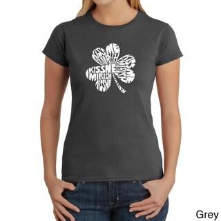 Los Angeles Pop Art Women's 'Kiss Me, I'm Irish' T-shirt
