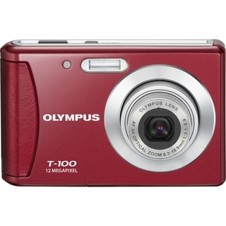 Olympus T-100 12 Megapixel Compact Camera - Red