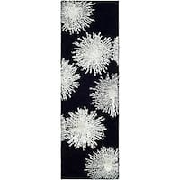 Safavieh Handmade Soho Burst Black New Zealand Wool Runner - 2'6 x 8'